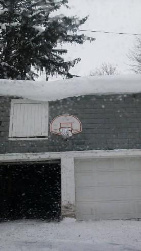 Basketball anyone? Seems like the snow made a basket!