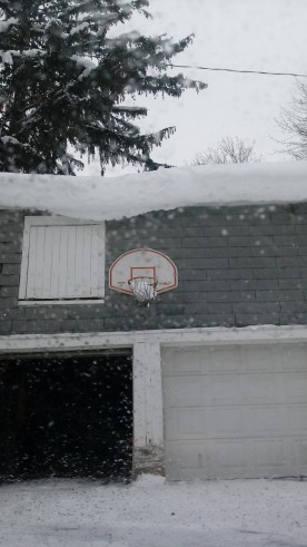 Basketball anyone? Seems like the snow made a basket!